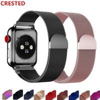 Pasek na pasek do apple watch 44mm 42mm korea watchband link bransoletka pulseira milanese loop apple watch 5 4 3 iwatch 38mm/40mm