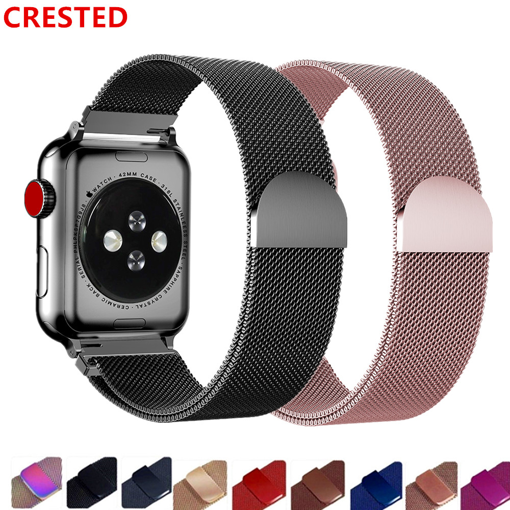 Strap For Apple Watch Band 44mm 42mm Correa Watchband Link Bracelet Pulseira Milanese Loop Apple Watch 5 4 3 Iwatch 38mm/40mm