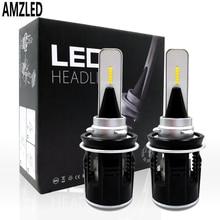 AMZ светодиодный рабочий светильник B6 светодиодный головной светильник H1 H4 H3H8 H9 H11 9005 9006 9012 48 Вт 7200LM CSP Y11 чипы белый 6000K обновленная разрядные лампы высокой интенсивности