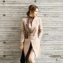 Professional suit women fall and winter in the new long suit jacket + pants two-piece cultivate morality show thin suit(China)