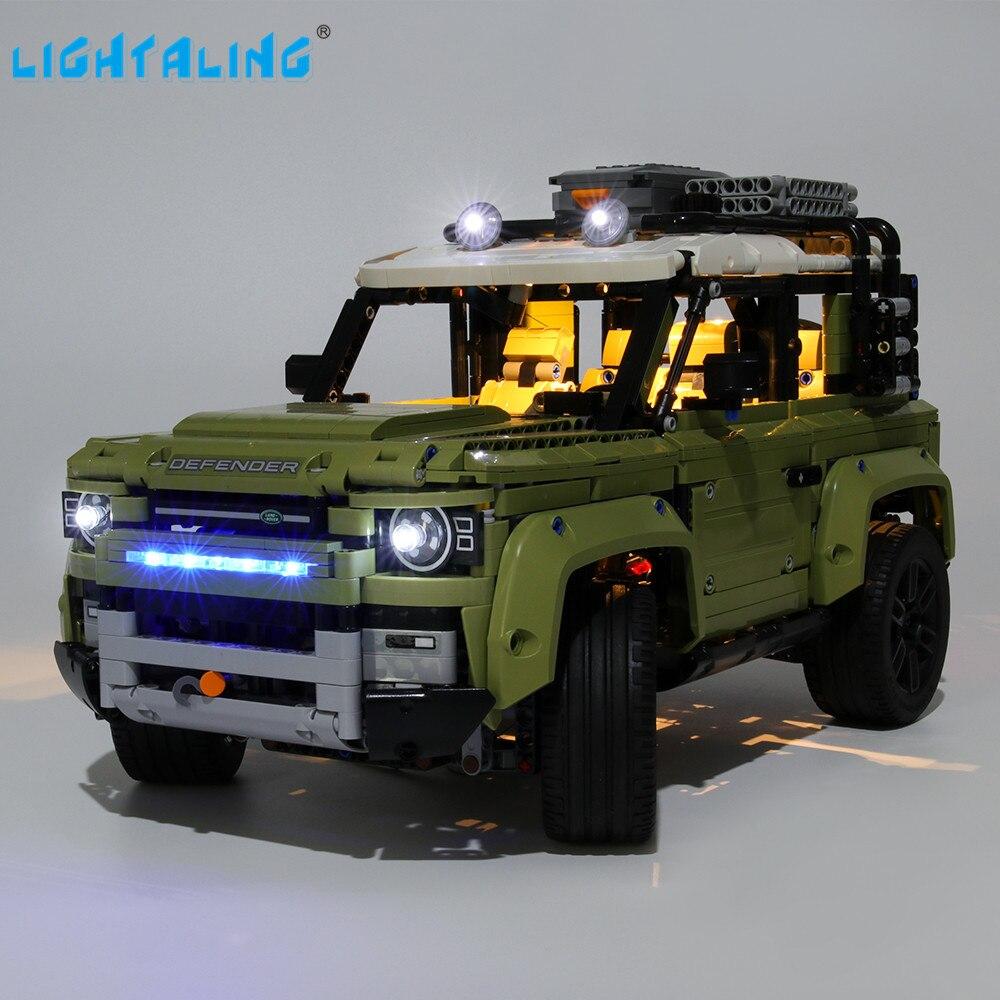 Lightaling Led Light Kit For Technic Landrover Defender Vehicles Toy Building Blocks Compatible With 42110 ( Lighting Set Only )