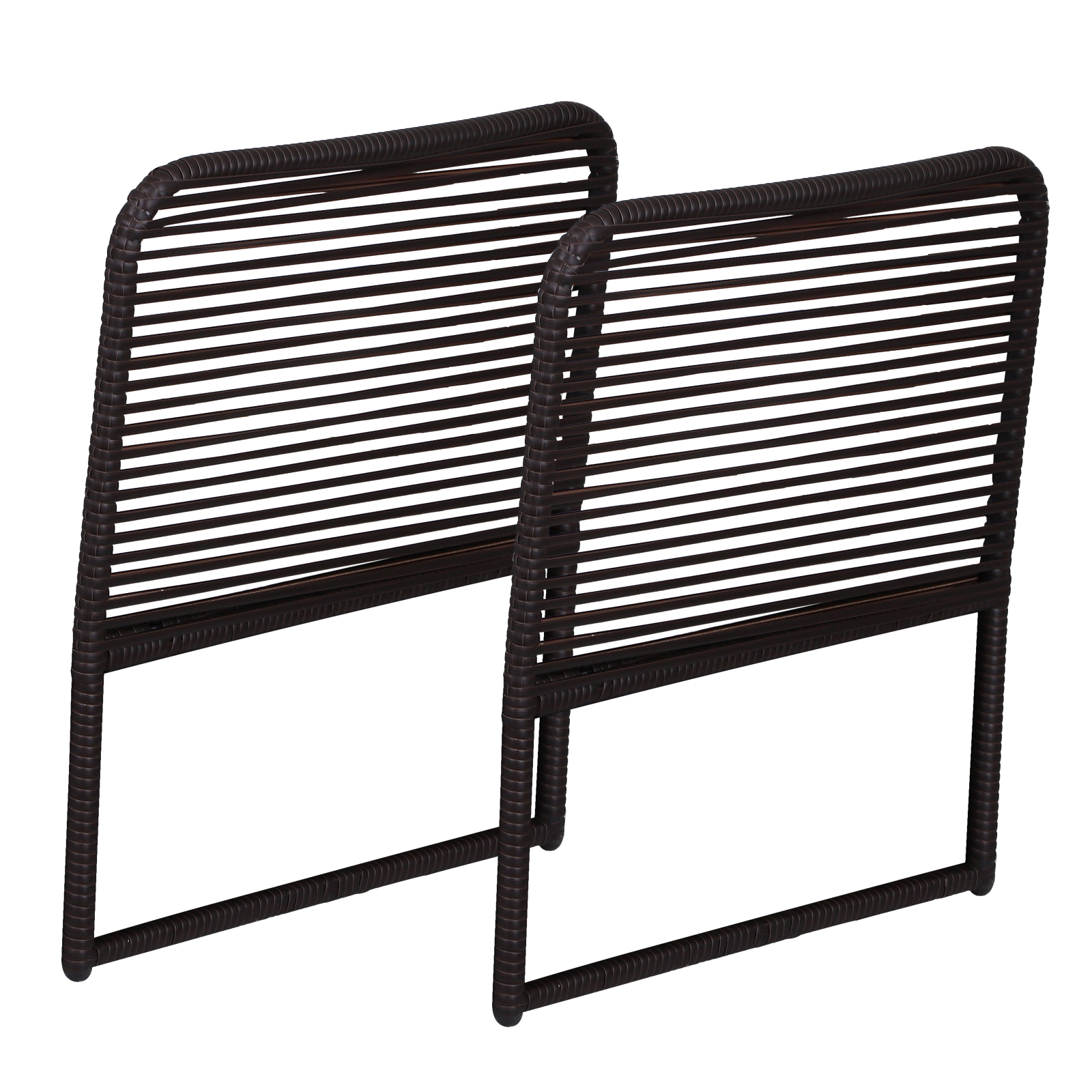 Outsunny Armrests Parts 2 PCs Outdoor Garden Furniture Rattan 63x60x6 Cm
