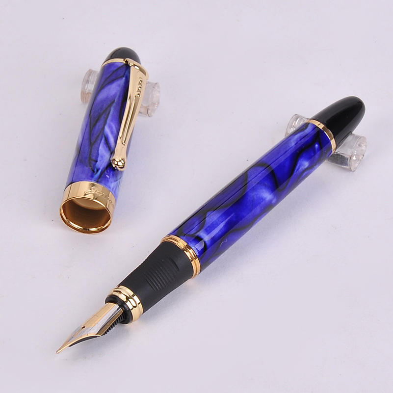 2020 New Arrivel Jinhao X450 Luxury Dazzle Blue Fountain Pen High Quality Metal Inking Pens For Office Supplies School Supplies