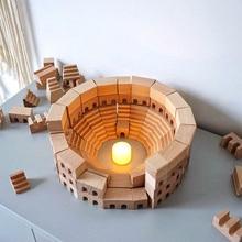 Wood-Toys Building-Blocks Educational-Toys Colosseum Montessori Baby Nordic Giant Kids