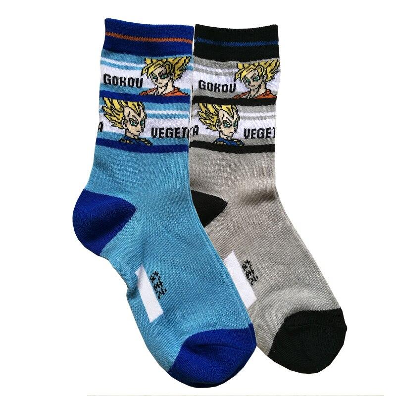 7-11 Years Old Dragon Ball Kids Cartoon Socks Boys Girls Socks Children Christmas Socks Baby Cotton Short Socks