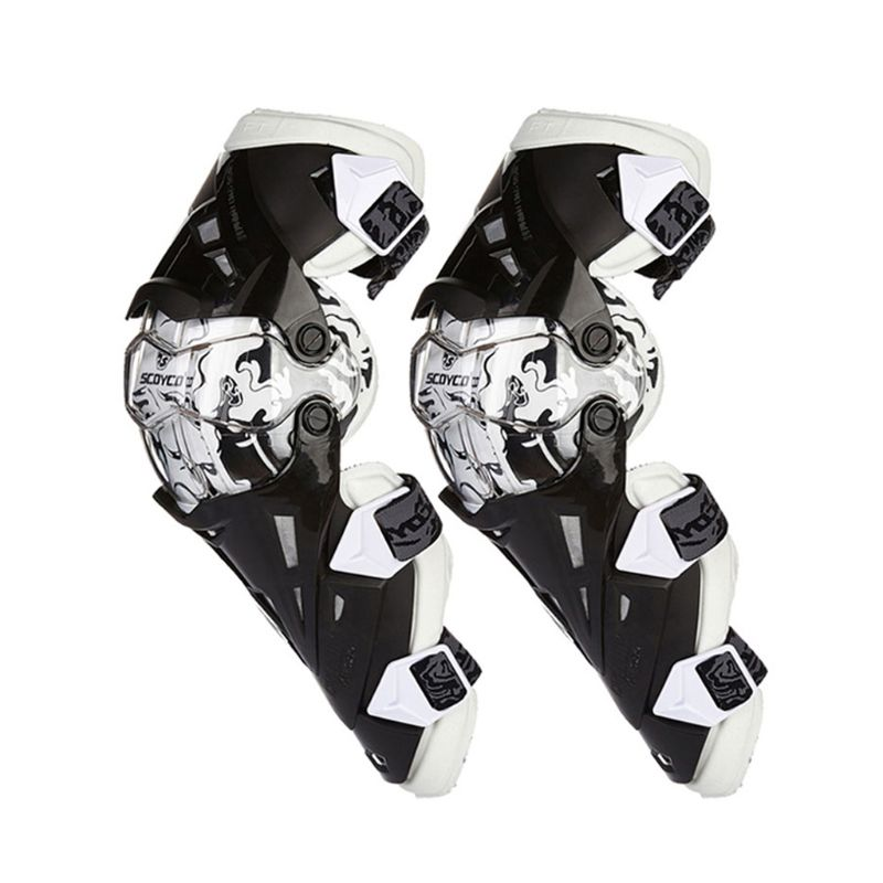 2pc Motorcycle Knee Pad Protective Gear Knee Guards Safety Gears Race Brace