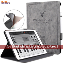 Soft Smart Magnetic Case for iPad 9.7 2017 2018 Tablet Flip Cover Stand Apple Air 1 2 Auto Sleep Funda