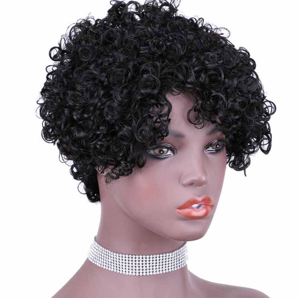 150 Density Brazilian Afro Kinky Curly Wig Ombre Human Hair Wigs For Women 100% Real Human Hair Material 6 Colors
