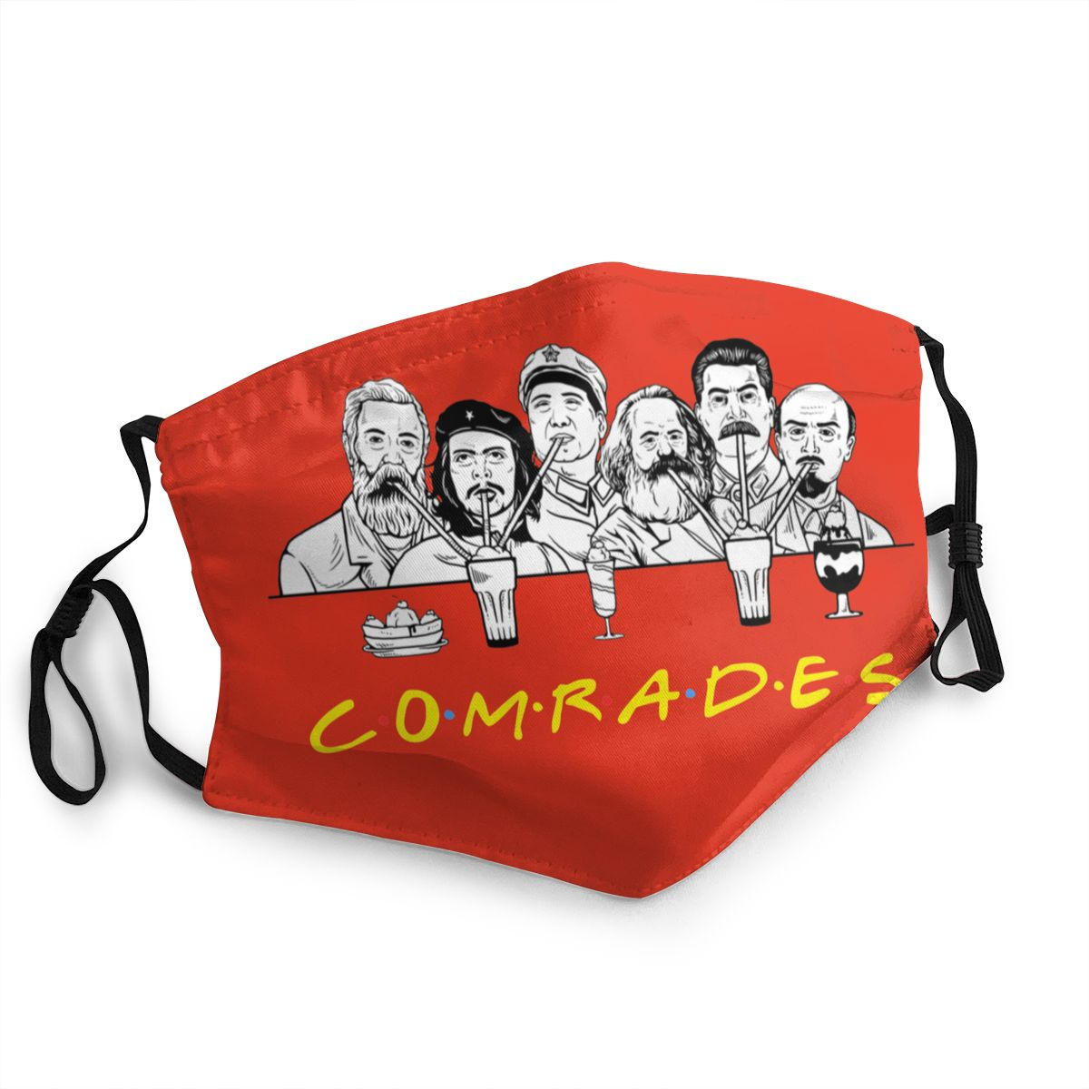 Communist Friends Comrades Marxism Reusable Mouth Face Mask Lenin Anti Haze Dust Mask Protection Mask Respirator Mouth Muffle