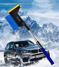 Кисть от снега для машины удаления Выдвижная со шкребком Съемная