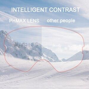 Image 4 - Phmax óculos de esqui de inverno com máscara de esqui snowboard óculos de esqui camadas duplas uv400 proteção anti nevoeiro neve óculos de esqui