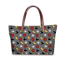ELVISWORDS Cartoon Mouse Cute Purses & Handbags Women Large Messenger Bag Womens Big Shoulder Bags Female Girls Tote Zipper
