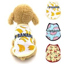 New Pet Dog Clothes Puppy Vest Spring Shirt Cute Banana Prin