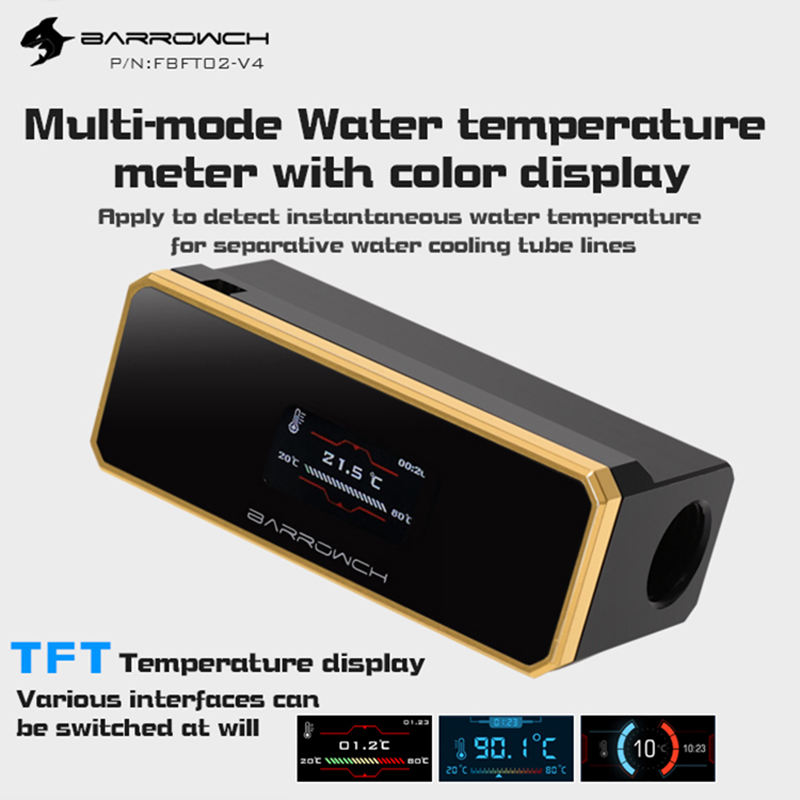 Barrowch FBFT02-V4 Multimode Water Temperature Meter With Color TFT Display When Overheat And Intelligent Shutdown