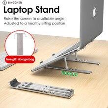 LINGCHEN 노트북 홀더 맥북 에어 프로 노트북 노트북 스탠드 브래킷 접이식 알루미늄 합금 노트북 홀더 PC 노트북