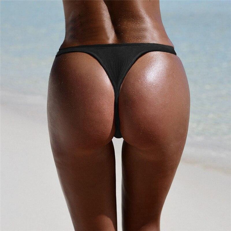 Sexy Thong Bikini G String Bottoms Swimwear Women Swimsuit Ladies Swim Shorts Brazilian Panties Biquinis Underwear Female Wears