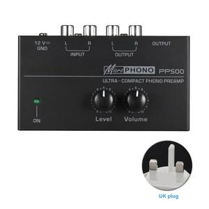 Image 2 - Pp500 ultra compacto volume controles de metal estéreo pré amplificador casa eletrônico portátil com nível áudio phono preamp turntable