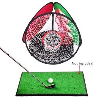 Red de entrenamiento práctica de Golf con 3 bolas, 4 lados, práctica de Golf, para interiores y exteriores