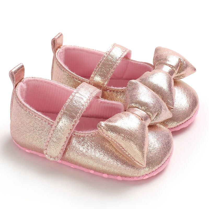 Infant Anti-slip Baby Shoes Casual First Walkers Toddler Shoes Big Bow Knot Girls Shoes