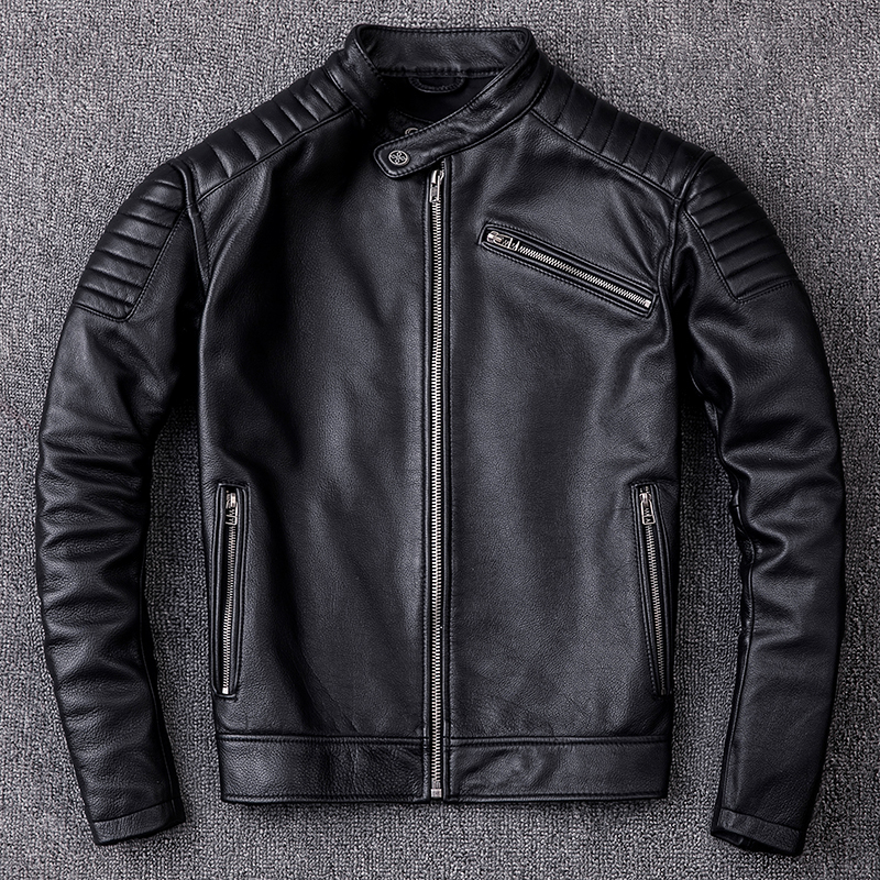 Autumn Winter Men Clothes 2020 Genuine Leather Jacket Vintage Real Cow Leather Jackets Chaqueta Cuero Hombre ZL399