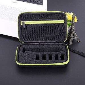 Image 5 - Caso portátil para philips oneblade trimmer barbeador e acessórios eva saco de viagem caixa pacote de armazenamento sem navalha atenção apenas caso
