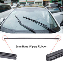 2PCS 8mm Bone strip Auto Vehicle Insert Soft Rubber Strip Refill For Frameless Wiper Blades 26 24 Car Accessories