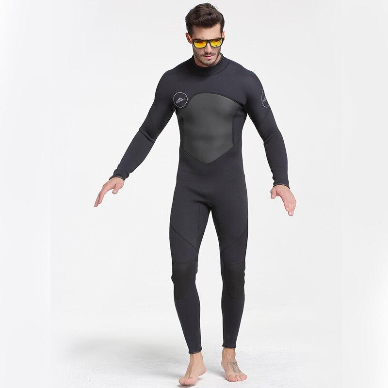 Date 3mm néoprène combinaison hommes femmes maillot de bain équipement pour la plongée sous-marine natation surf chasse sous-marine costume Triathlon combinaisons - 4