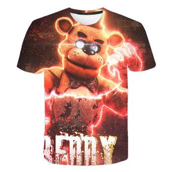 Koszulka Fnaf Cartoon T koszula dziewczyny chłopcy Tshirt 3D drukowane modne ciuchy Streetwear Vintage Harajuku dziecięce ubrania dla dzieci alt tanie i dobre opinie Poliester spandex CN (pochodzenie) Moda Krótki REGULAR Pasuje prawda na wymiar weź swój normalny rozmiar Unisex O-neck