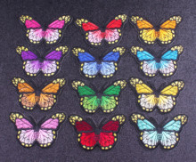 Butterfly Patch Iron On Patches On Clothes Stickers On Fabric Appliqued Quality Beautiful Colorful Art Fashion Badge On The Back on