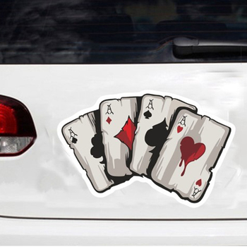 1pcs Color Poker A Graphics Car Reflective Car Body Racing Side Door Long Stripe Stickers Car Stickers Auto Vinyl Decal image