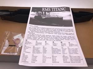 Image 5 - 1:550 RMS تايتانك نموذج بناء مجموعات التجمع نموذج باخرة بلاستيكية مع محرك كهربائي جهاز الإضاءة الكهربائية لعبة تايتانك