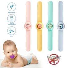 2020 Children's Cartoon Natural Mosquito Repellent Bracelet Plant Essential Oil Mosquito Repellent Ring Wristband Watch Tslm1(China)