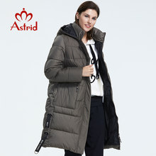 Astrid 2019 Winter new arrival down jacket women outerwear high quality thick cotton black color hood long winter coat AR-7112(China)
