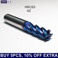 AHNO HRC65 CNC 카바이드 밀링 커터 철 플라스틱 스테인레스 스틸 열처리 된 강철 용 내구성 및 고성능