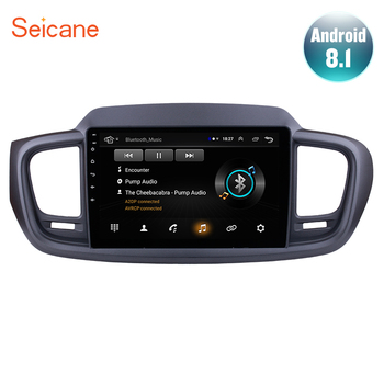 Seicane 10.1 Inch Android 8.1 2Din Car GPS Navigation Radio Multimedia Player For 2015 KIA SORENTO Left hand drive Bluetooth image