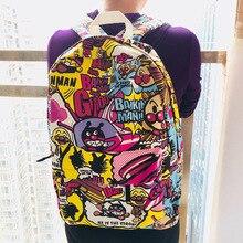 15*29*40cm Anpanman Batakosan Cheese Dog Cartoon Canvas Backpack Travel Plush Bag