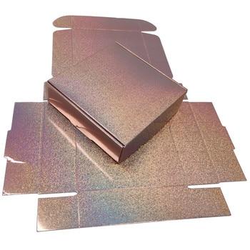 20pcs Rose Gold Glitter Holographic Gift Box