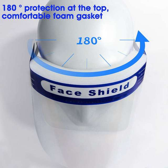 5/10/16/20x Safety Full Face Mask Helmet Clear Face Shield Cover Transparent Lens Film Protector Anti-fog anti-droplets 2