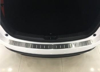 KOUVI 2pcs Stainless Steel Accessories Rear Bumper Protector Sill plate cover For Mazda CX5 CX-5 2017 18 19 Car Styling