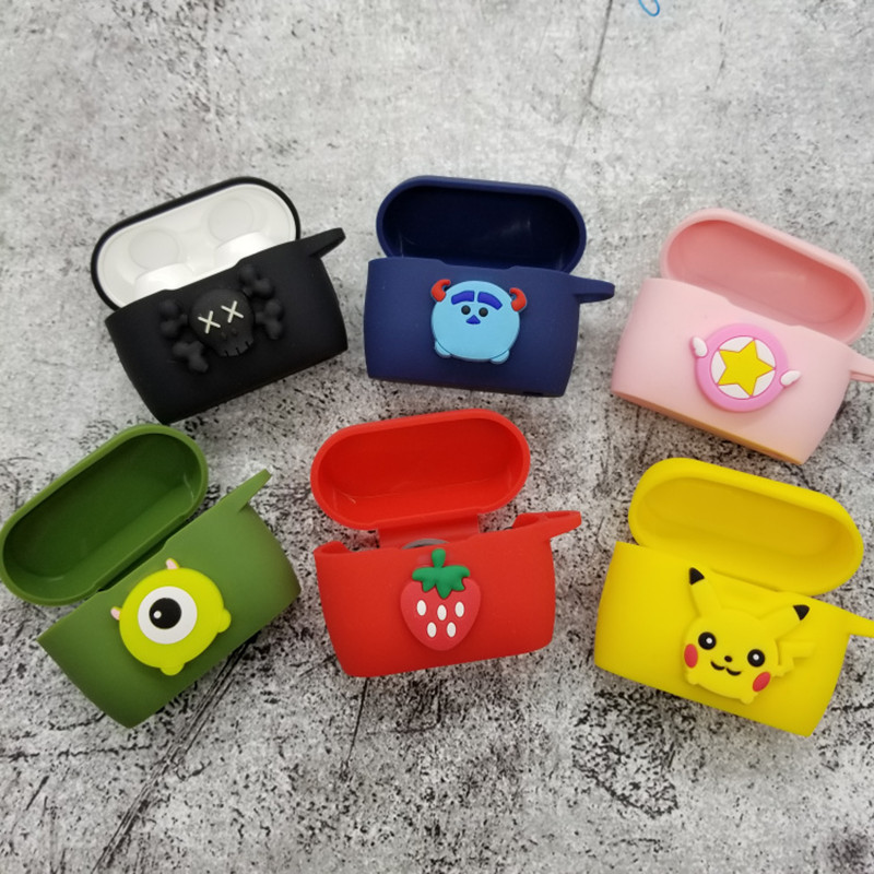 Cartoon Silicone Case For Meizu POP 2 Soft  Bluetooth Wireless Earphone For Meizu POP 2 Charging Box