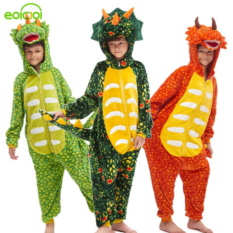 20 ילדים חדשים kigurumi בעלי החיים דינוזאור unicorn פיג 'מה סט חורף ברדס רך תפר חג המולד הלבשת ילדי בנות בני סרבל