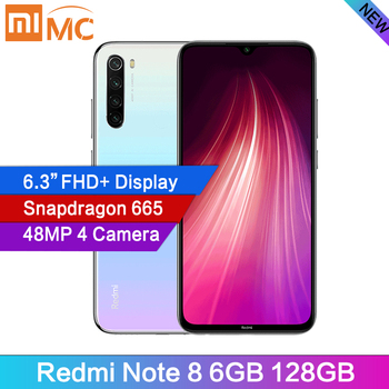 New Arrival Xiaomi Redmi Note 8 6GB RAM 128GB ROM Cellphone 48MP Quad Cameras 6.3