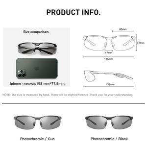Image 5 - CAPONI sportowe okulary przeciwsłoneczne dla mężczyzn do ochrony oczu spolaryzowane odcienie do wędkowania fotochromowe ultralekkie okulary przeciwsłoneczne kierowcy BS8033