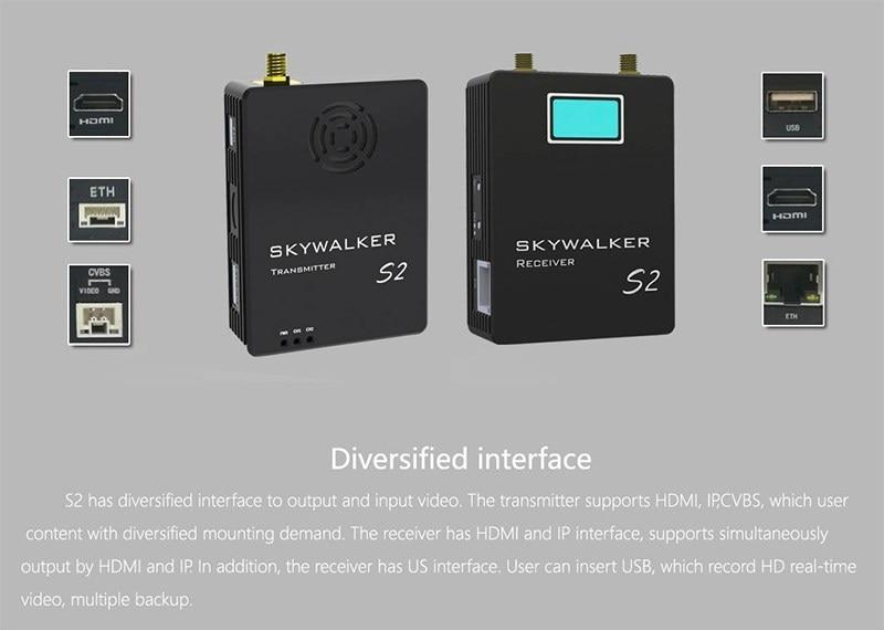 COFDM Digital Video Transmitter Receiver wireless HD video transmitter TX UX for UAV 19