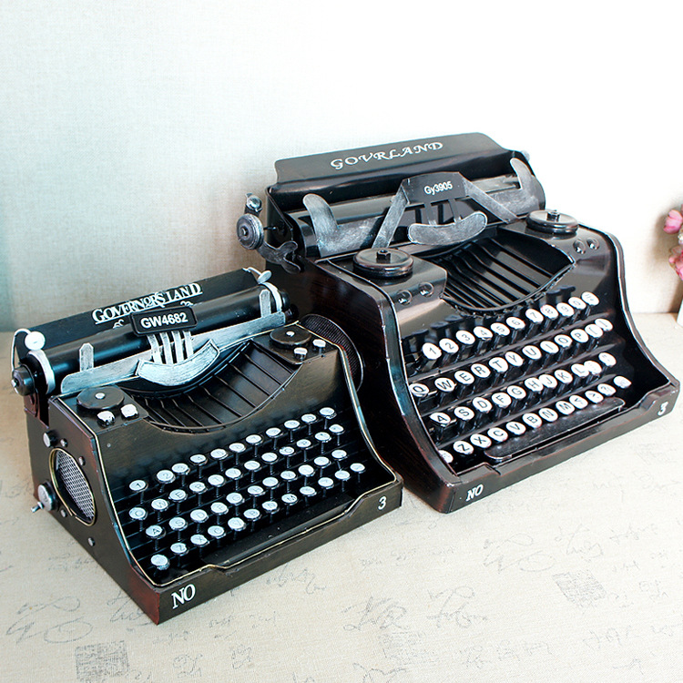 Retro Vintage Typewriters English Non-Chinese Props Model Handmade Bar Decorations
