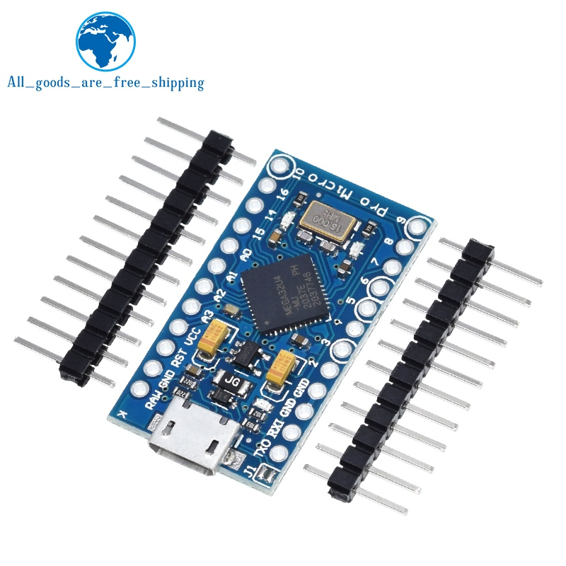 Tzt Pro Micro ATmega32U4 5V 16Mhz Vervangen ATmega328 Voor Arduino Pro Mini Met 2 Rij Pin Header Voor leonardo Mini Usb Interface 1