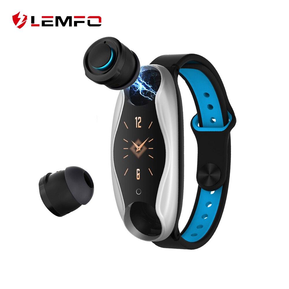 LEMFO LT04 T90 Fitness Bracelet Wireless Bluetooth Earphone 2 In 1 Bluetooth 5 0 IP67 Waterproof Sport Smart Watch Wristband