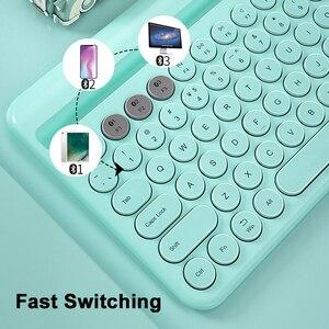 Image 4 - Bluetoothワイヤレスサイレントミニゲームセットキーボードマウスコンボマジックキーボードマウスキットipadと電話hp huawei社ノートpcゲーマー