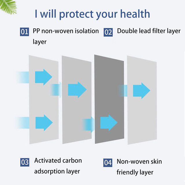 10PCS Protective Mask for Men Women Cotton 4 Layer Disposable Dustproof Face Mouth Masks Anti PM2.5 Influenza Anti Flu Masks 2