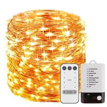 50/100/200 LEDs Brass Wire String Light 8 Modes Christmas Holiday Party Lamp Q84D for LED